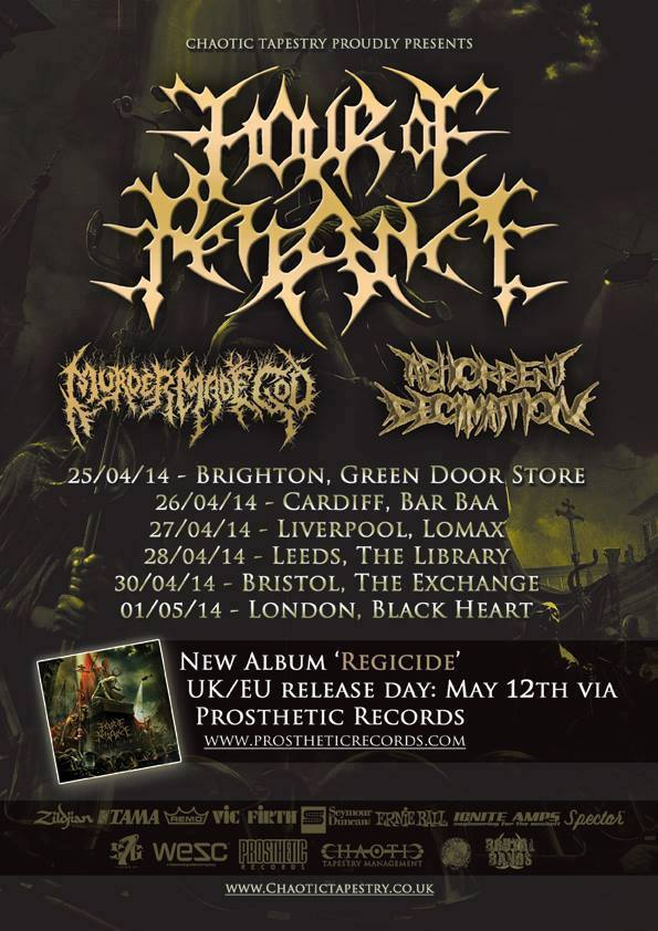 Abhorrent Decimation Hour Of Penance Murder Made God Tour Poster