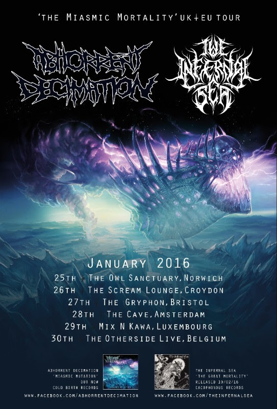 Abhorrent Decimation The Infernal Sea The Miasmic Mortality Tour Poster