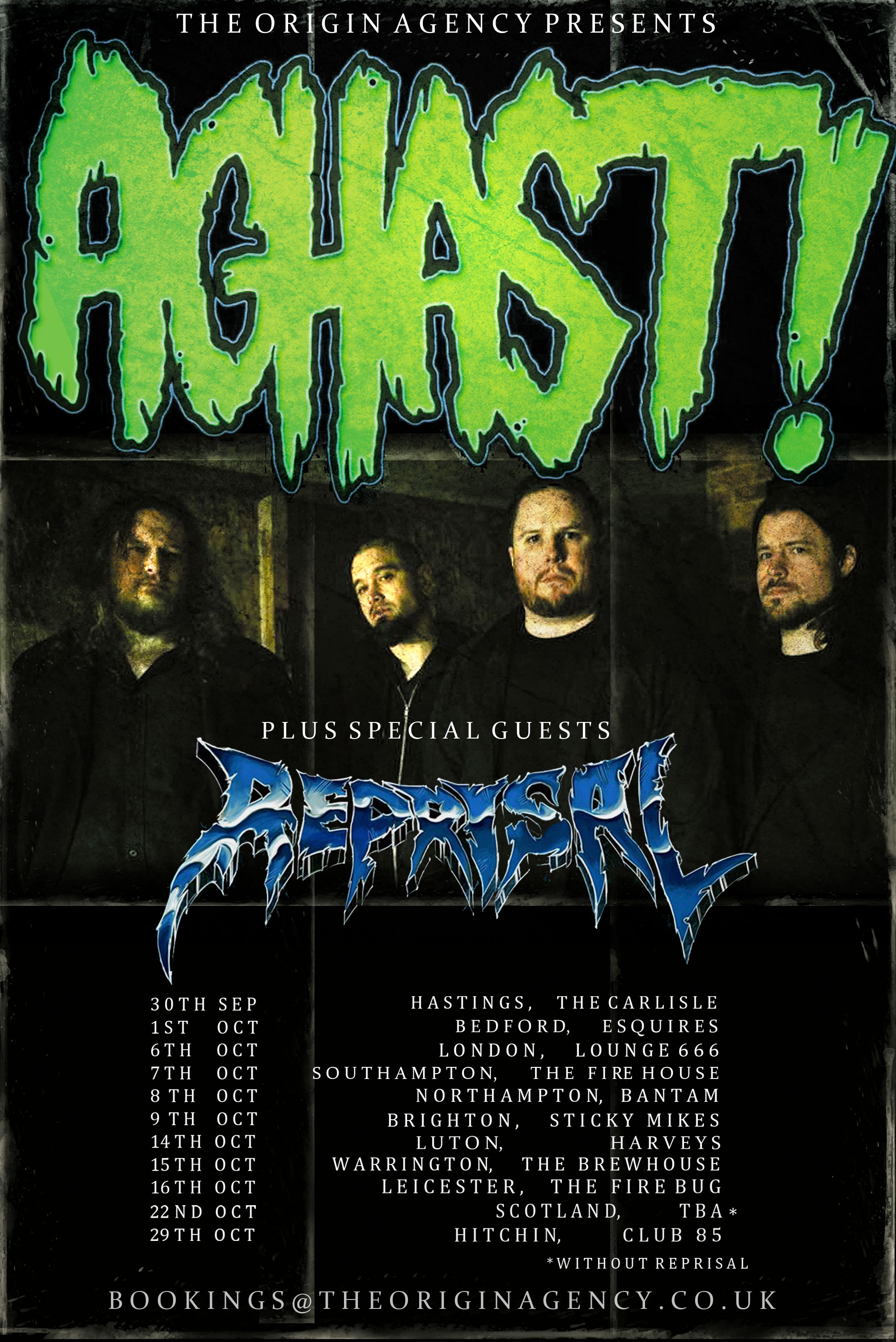Aghast UK Tour