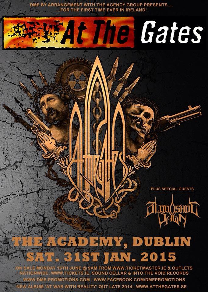 At The Gates : Bloodshot Dawn Ireland