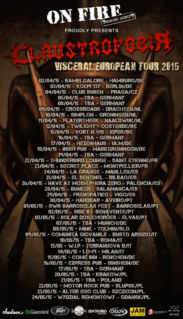 Claustrofobia European Tour Update!